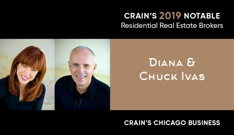 Recognized in Crain's as a 2019 Notable Residential Real Estate Broker!